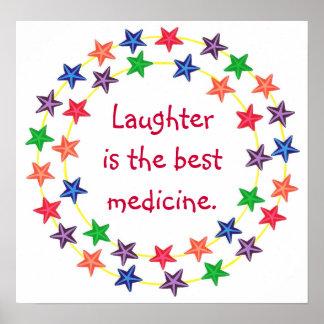 La risa es el poster colorido de la estrella de la