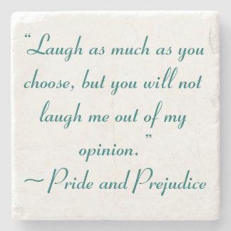 La risa tanto como usted elige a Jane Austen Posavasos De Piedra
