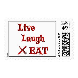 La risa viva COME Timbre Postal