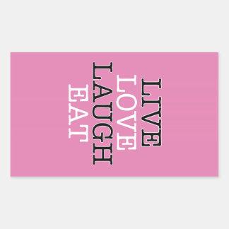 La risa viva del amor come pegatina rectangular