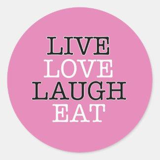 La risa viva del amor come pegatina redonda