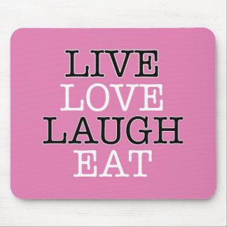 La risa viva del amor come tapetes de raton