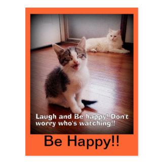 La risa y sea postal feliz