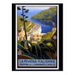 """La Riviera Italienne"" Vintage Travel Poster Post Cards"
