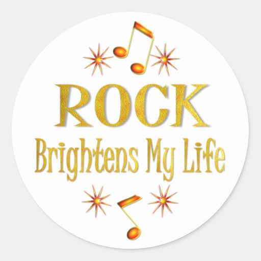 La roca aclara mi vida pegatina redonda