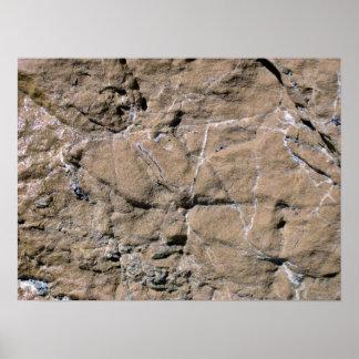 La roca agrieta modelos poster