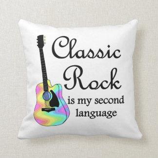 La roca clásica es mi segunda lengua cojín decorativo