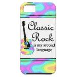 La roca clásica es mi segunda lengua iPhone 5 carcasa