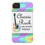 La roca clásica es mi segunda lengua iPhone 4 Case-Mate protectores