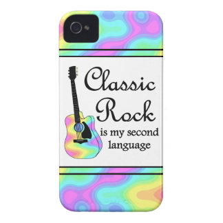 La roca clásica es mi segunda lengua iPhone 4 Case-Mate carcasas
