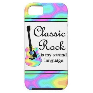 La roca clásica es mi segunda lengua iPhone 5 fundas