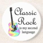 La roca clásica es mi segunda lengua posavasos personalizados