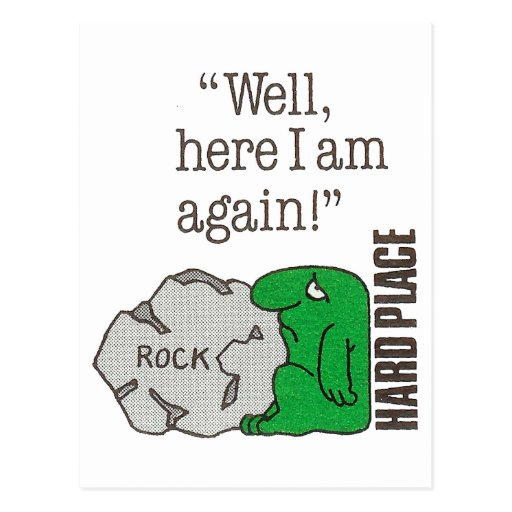 La roca/coloca difícilmente postal