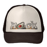 La roca con despluma metálico gorras