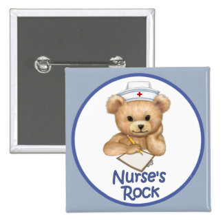 La roca de la enfermera pin cuadrada 5 cm