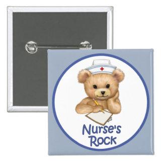 La roca de la enfermera pin cuadrado