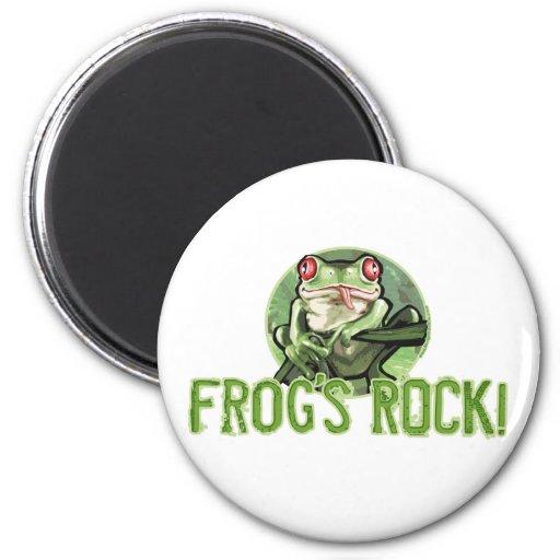 ¡La roca de la rana! Imán de la rana arbórea