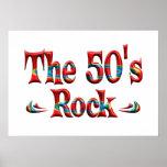 La roca de los años 50 impresiones