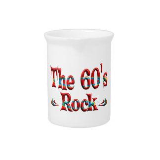 La roca de los años 60 jarra de beber