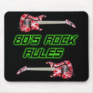 la roca de los años 80 gobierna Mousepad Alfombrilla De Raton