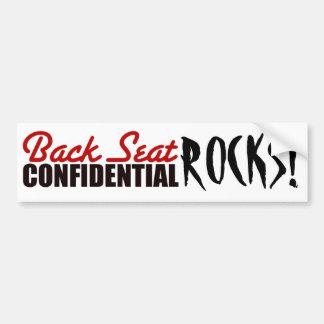 ¡la roca de los chicas! etiqueta de parachoque