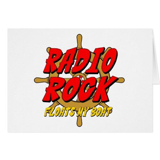 La roca de radio flota mi barco tarjeta de felicitación