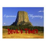 La roca del diablo, postal de Wyoming