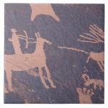 La roca del periódico, S.P., UT acerca a Monticell Azulejo Cuadrado Grande