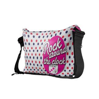 La roca del Rockabilly del vintage las veinticuatr Bolsas Messenger