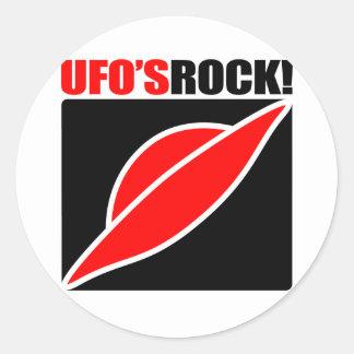 ¡La roca del UFO! Pegatinas Redondas