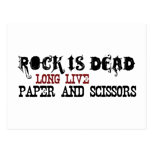 La roca es muerta postal