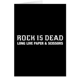 La roca es muerta… vive de largo papel y las tarjeta de felicitación