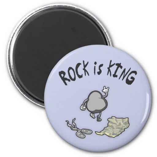 La roca es rey imán redondo 5 cm