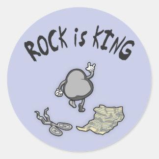 La roca es rey etiquetas redondas