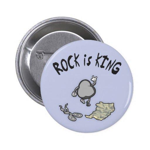 La roca es rey pin redondo 5 cm
