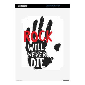 la roca nunca morirá negro calcomanía para el iPad 2