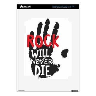 la roca nunca morirá negro iPad 3 pegatinas skins
