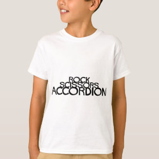 La roca Scissors el acordeón Playera