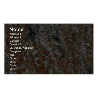 La roca sólido heló el ámbar tarjetas de visita