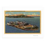 """La roca,"" vista de la isla de Alcatraz Tarjeta Postal"