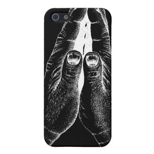 La rogación negra y blanca da la casamata del iPho iPhone 5 Fundas