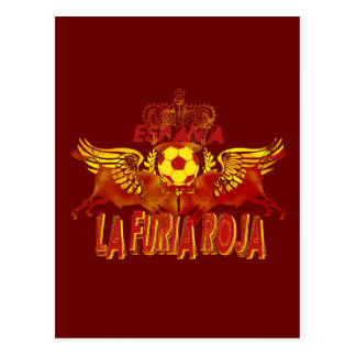 La Roja Twin Toros Raging Bulls futbol kings Postcard