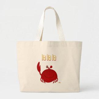 La rojo sonriente del La del La del cangrejo Bolsa De Mano