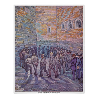La ronda de los presos de Vincent van Gogh Póster