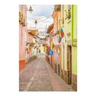 La Ronda Street Quito Ecuador Photo Print