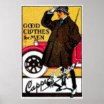 La ropa 1920 de los hombres del vintage impresiones