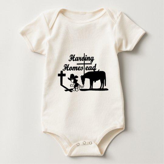 """La ropa de la fe de la granja de Harding """"montar a Body Para Bebé"""