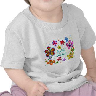 La ropa de las flores del bebé de los niños grande camisetas