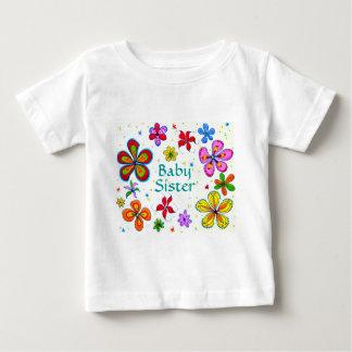 La ropa de las flores del bebé de los niños poleras