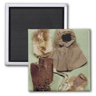 La ropa de Scott usada en el antártico Imanes De Nevera